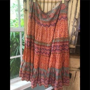 NWOT Ralph Lauren Colorful Boho full skirt size XL